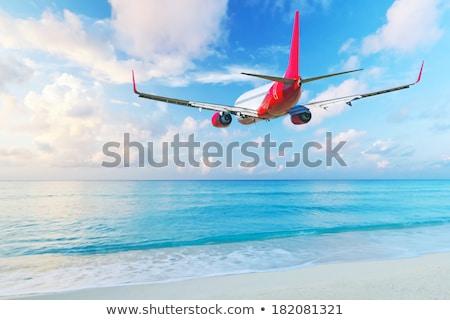 日没 · 風景 · 飛行 · 自然 · 旅行 · 鳥 - ストックフォト © bluering