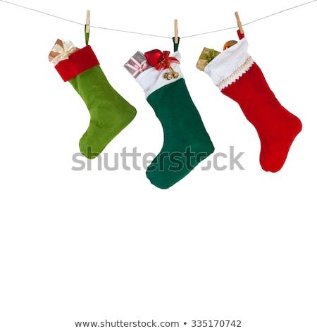 Natale stocking isolato tradizionale vacanze natale Foto d'archivio © popaukropa