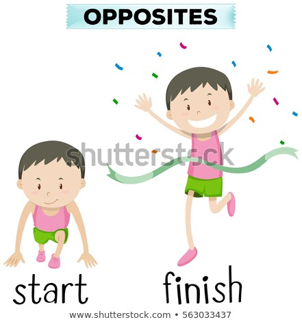 Opposite words for start and finish Stock photo © bluering