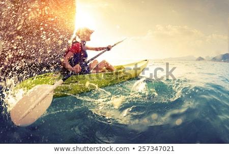 zee · omhoog · tropisch · strand · hemel · oceaan · Blauw - stockfoto © craig