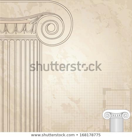 coluna · pormenor · tradicional · Grécia · arquitetura · pedra - foto stock © terriana