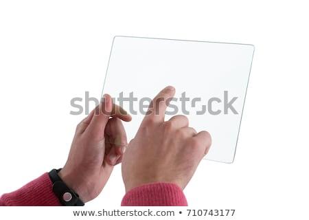 Hands pretending to hold digital tablet Stock photo © wavebreak_media
