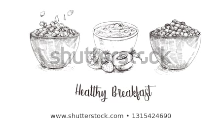 cornflakes and fruit stock photo © m-studio