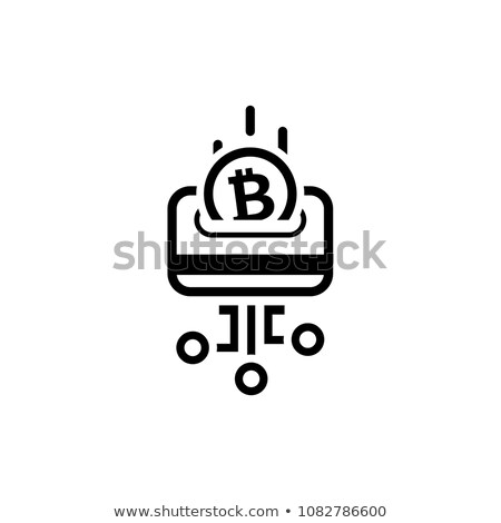 load card with bitcoin icon stock photo © wad