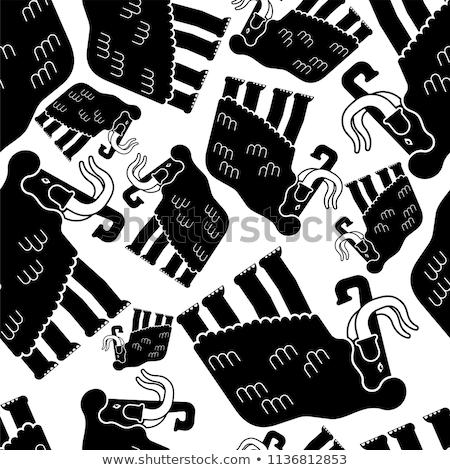 Wzór bezszwowy słoń gigant zwierząt kwiat Zdjęcia stock © popaukropa