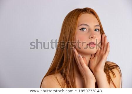 ストックフォト: Delicate Young Red Haired Beauty Posing