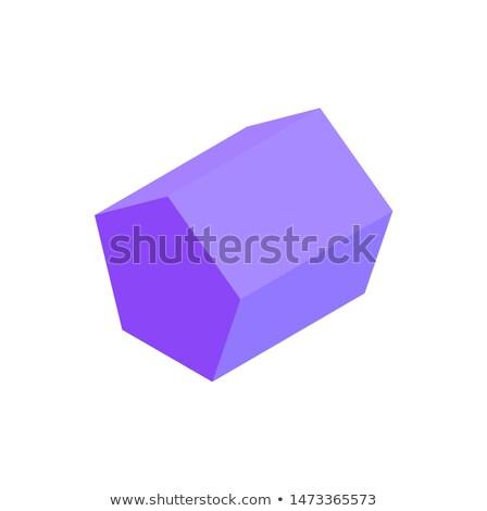 Orgona mértani alkat fehér háttér vektor Stock fotó © robuart