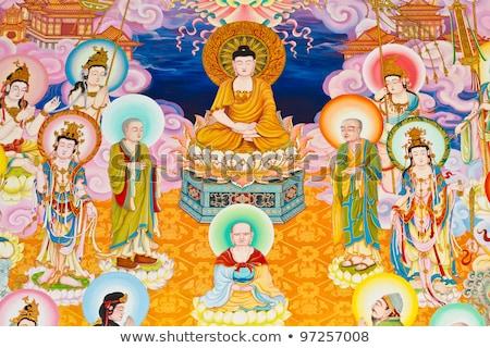 arany · kínai · művészet · stílus · templom · Thaiföld - stock fotó © koratmember