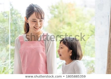Przedszkole dziewczyna zestaw różny kobieta rodziny Zdjęcia stock © toyotoyo