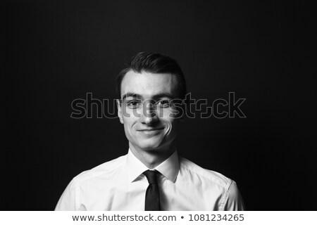Short hair businessman black_success & positive Stock photo © toyotoyo