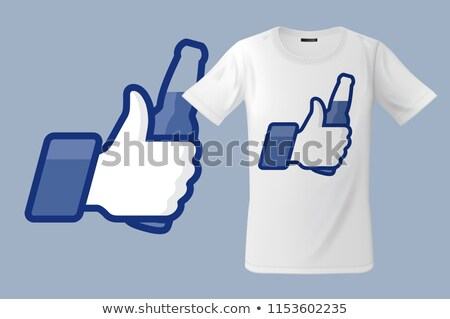 Modern t-shirt design with Thumbs Up icon with beer bottle, use for sweatshirts and souvenirs, cases Stock photo © ikopylov