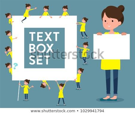 Stock photo: flat type Pregnant women_text box