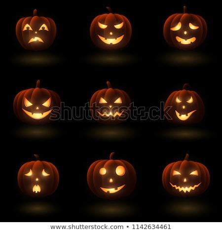Különböző halloween gyűjtemény narancs színes illusztrált Stock fotó © opicobello