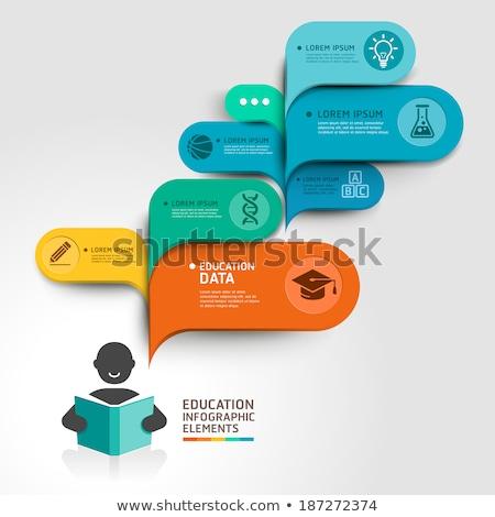 entreprise · infographie · croissance · mouvement - photo stock © designer_things