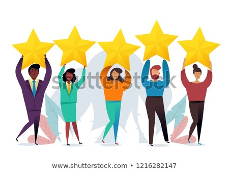 Customer rating. The best estimate of performance, the score of five points. People leave feedback a Stock photo © makyzz
