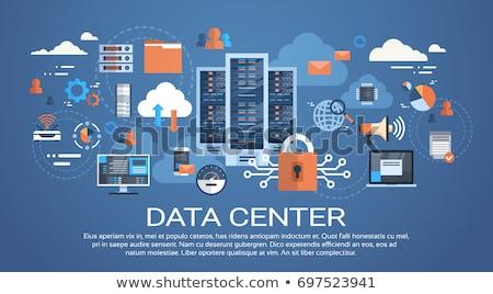 Adatközpont felhő számítógép kapcsolat hosting szerver Stock fotó © makyzz