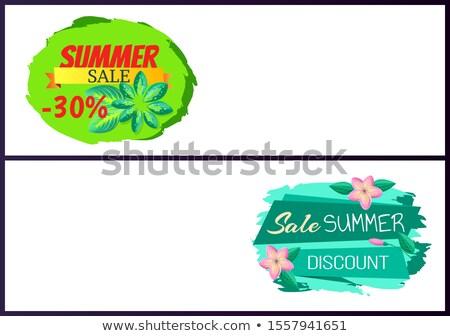 Verão venda conjunto botões Foto stock © robuart
