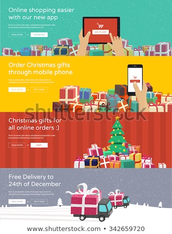 Christmas Sale Banner with Tablet Stock photo © Voysla