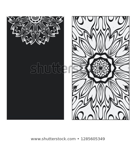 Hand drawn  flyer pages ornament illustration concept. Vintage art traditional, Islam, arabic, india Stock photo © Linetale