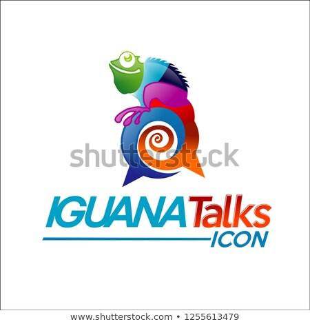 Cartoon Iguana Talking Stock photo © cthoman