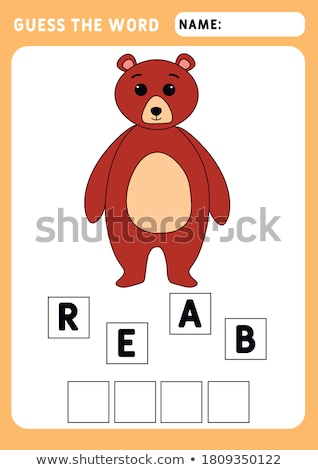 Spell it out bear Stock photo © bluering