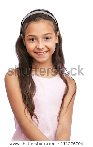 portrait of a smiling young girl in dress stock photo © deandrobot