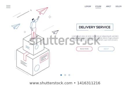 grafisch · ontwerp · moderne · lijn · ontwerp · stijl · web - stockfoto © decorwithme
