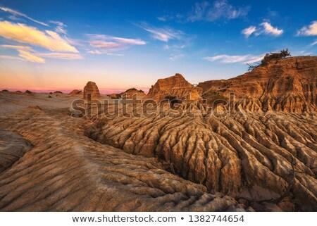 Pustyni Australia wiatr wody erozja Zdjęcia stock © lovleah
