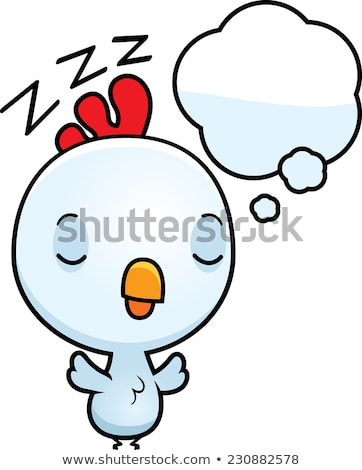 Cartoon Baby Rooster Dreaming Stock photo © cthoman