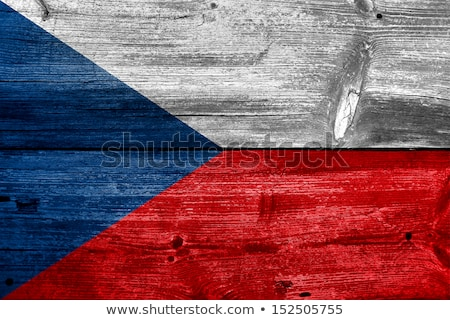 Tschechische Republik Flagge Holzbrett Illustration Design Hintergrund Stock foto © colematt