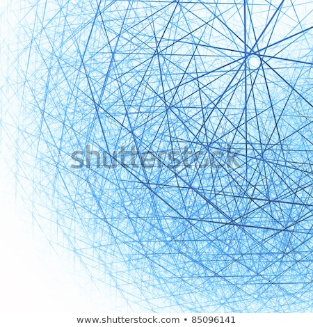 Blue complex snowflake 3D Stock photo © djmilic