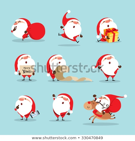 grappig · christmas · vector · ingesteld · hoeden - stockfoto © freesoulproduction