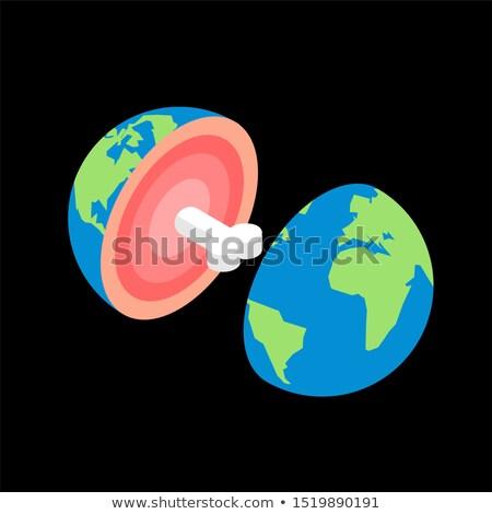 kern · aarde · illustratie · tonen · versnelling · binnenkant - stockfoto © maryvalery