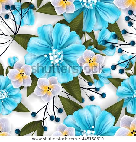 цветок · акварель · венок · красивой · дизайна · белый - Сток-фото © margolana