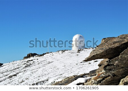 summer landscape with observatory in the mountains stock photo © kotenko