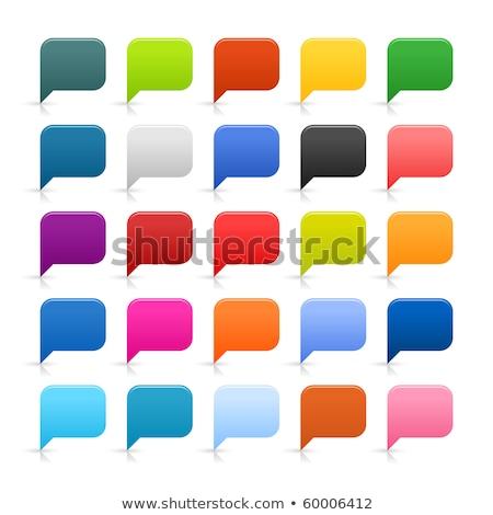 Speech Bubbles Icon, black and yellow. vector illustration. stock photo © kyryloff