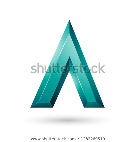 Persian Green Glossy Geometrical Letter A Vector Illustration Stock photo © cidepix
