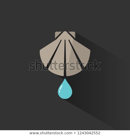 Baptism flat color icon with shadow on a black background Stock photo © Imaagio