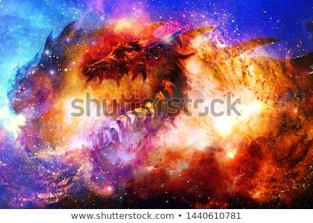 vermelho · dragão · vetor · projeto · fogo · sucesso - foto stock © colematt