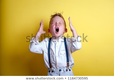 Kid Boy Yelling Angry Stock photo © lenm