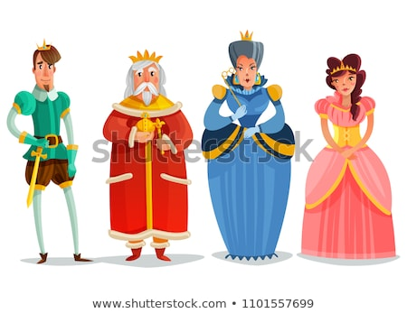 царя королева дворец иллюстрация человека пейзаж Сток-фото © colematt
