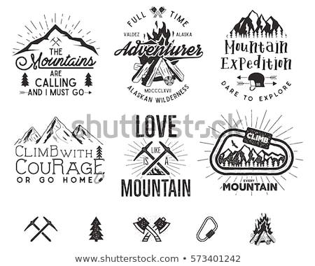 冒険 ロゴ 遠征 バッジ 山 登山 ストックフォト © JeksonGraphics