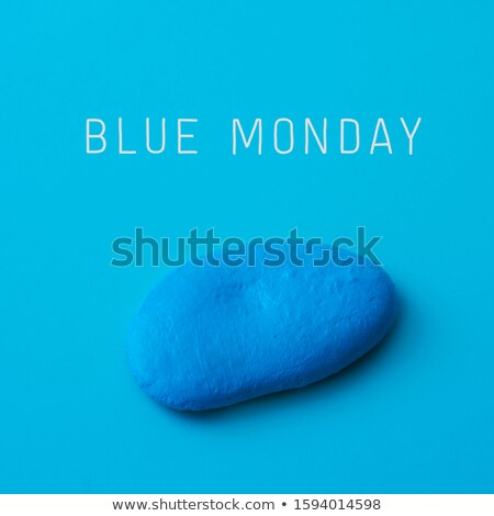 blue stone with the text blue monday Stock photo © nito