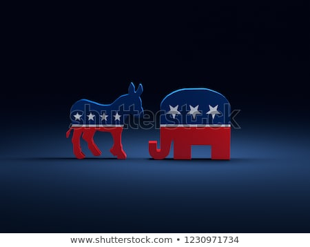 politic · elefant · măgar · vector · desen · animat · imagine - imagine de stoc © hittoon