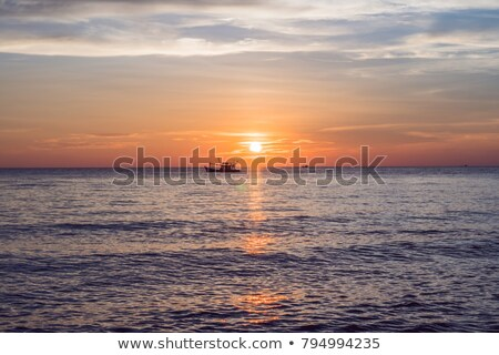 sunset sky over sea panorama vietnam phu quoc stock photo © galitskaya