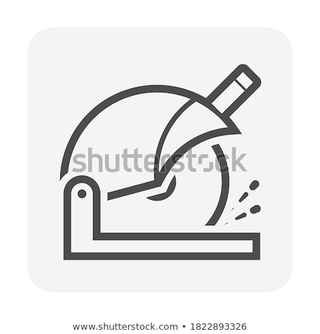 Circulaire métal vu idée travail mécanique Photo stock © grafvision