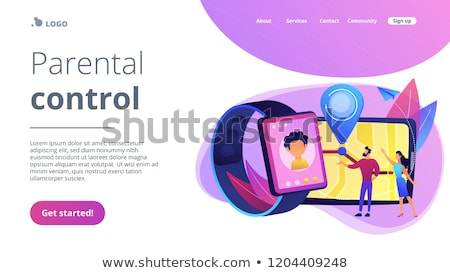 GPS kids tracker concept landing page. Stock photo © RAStudio