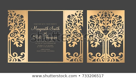 Laser cut wedding invitation template Stock photo © kariiika