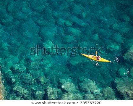 Kıyı deniz doğa manzara dağ kaya Stok fotoğraf © boggy