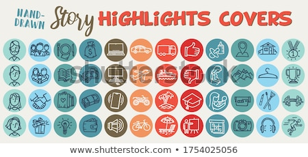 books in colorful cover woman with laptop vector stock photo © robuart